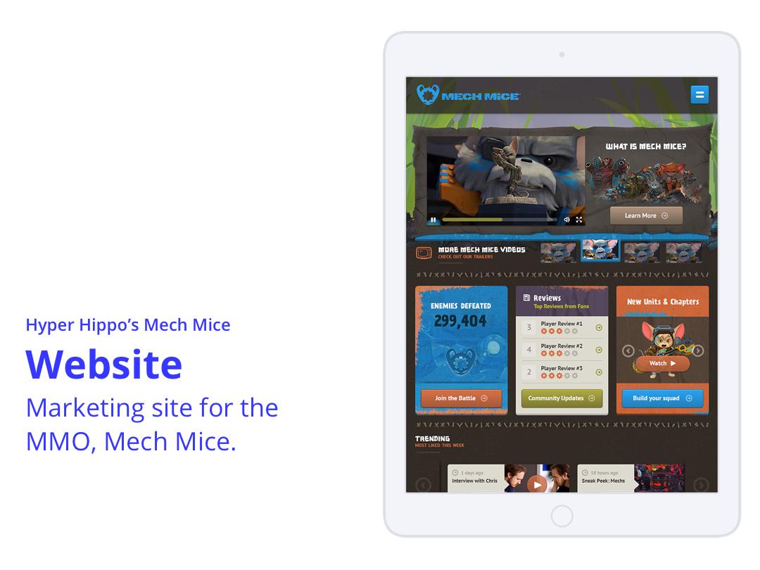 Mech Mice Website