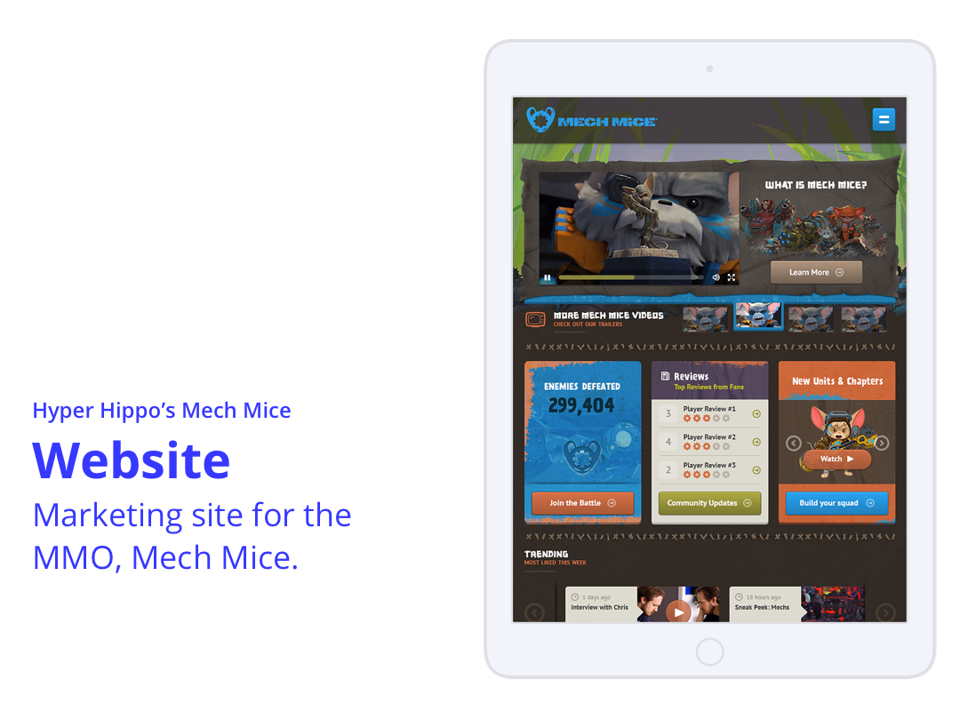 Mech Mice Website